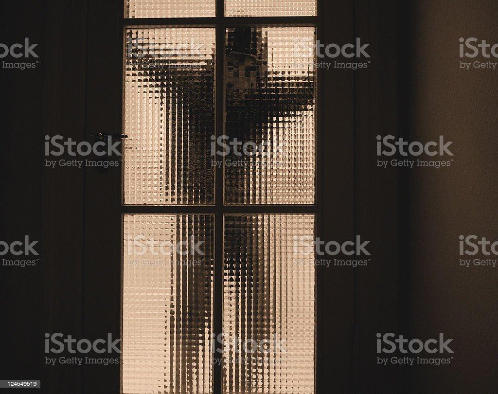 Peeking Man royalty-free stock photo