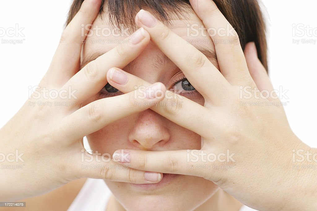 Peeking royalty-free stock photo
