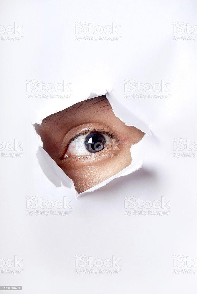 peeking royalty-free stock photo