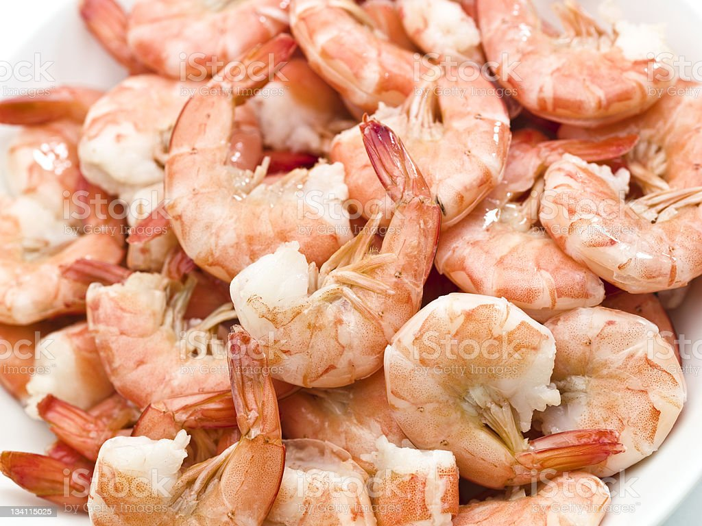 Peel and eat shrimps stock photo