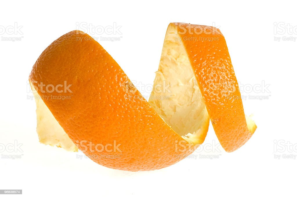 peel of orange stock photo