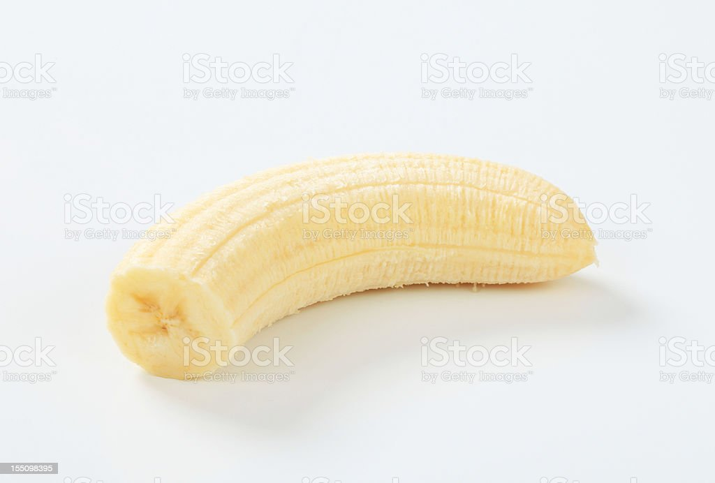 Peeled banana stock photo