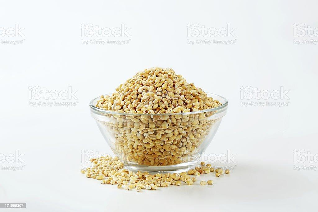 peeled barley in a bowl royalty-free stock photo
