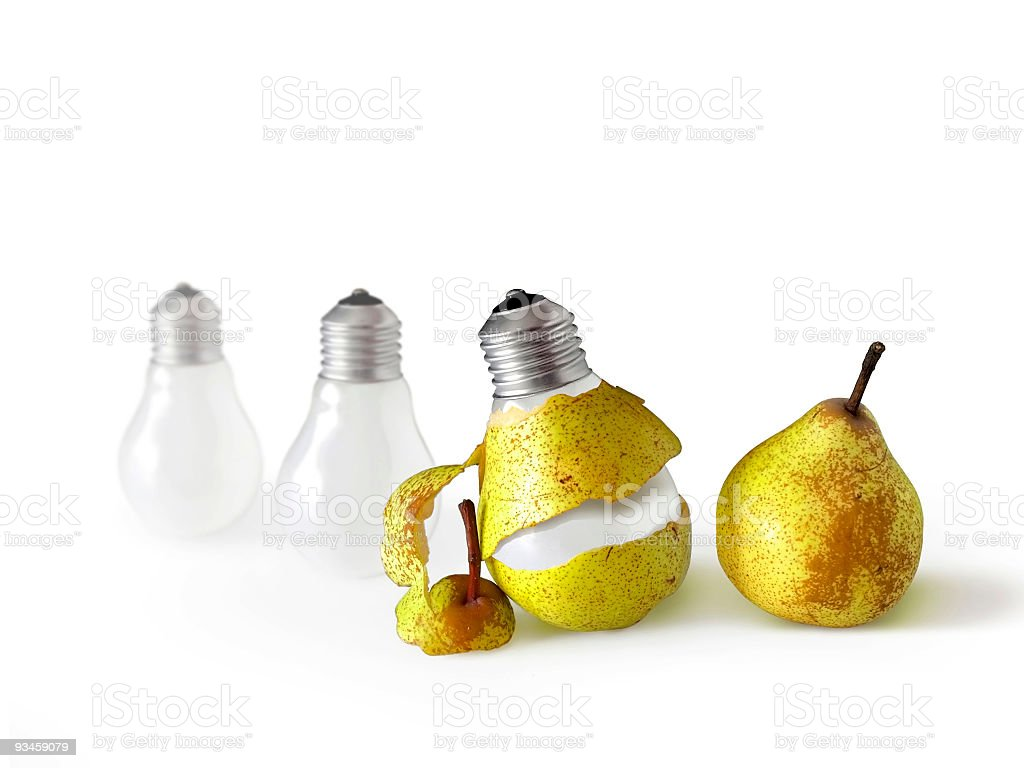 Peeled Bulb stock photo