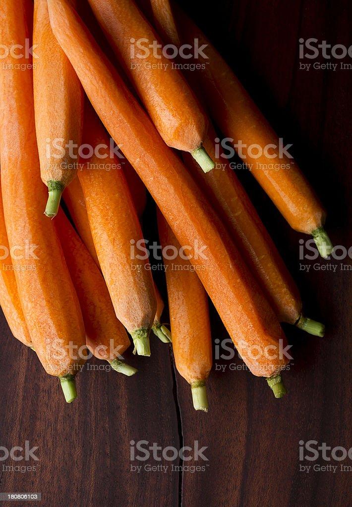 Peeled Carrots royalty-free stock photo