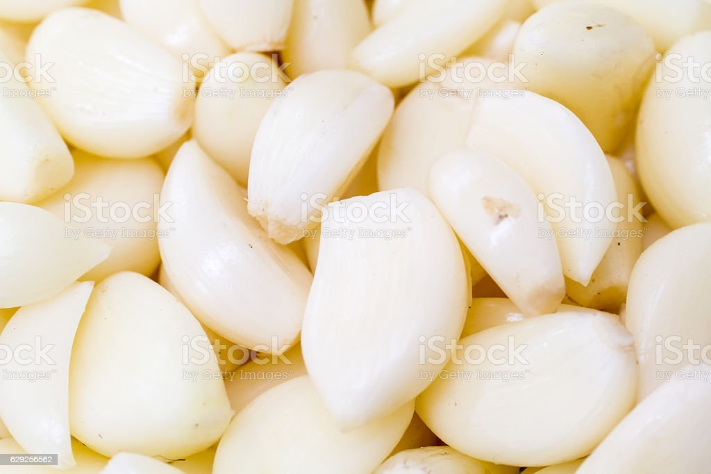 Peeled Garlic Cloves stock photo