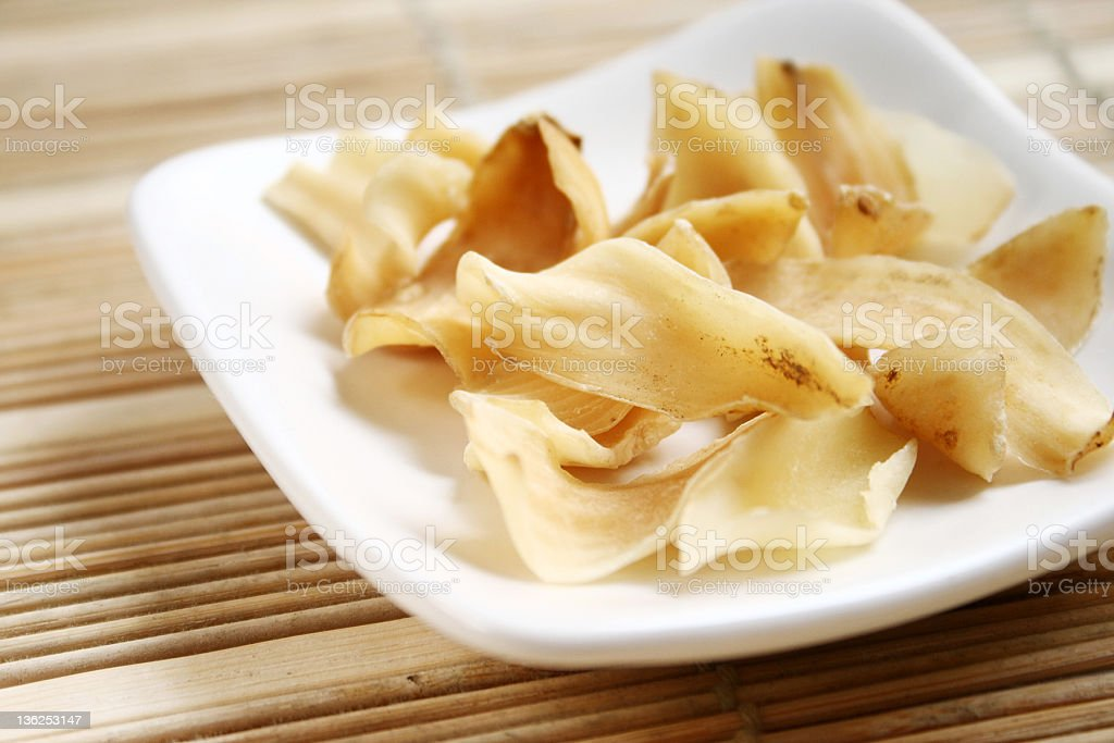 Peeled lily bulb, Chinese herbal medicine royalty-free stock photo
