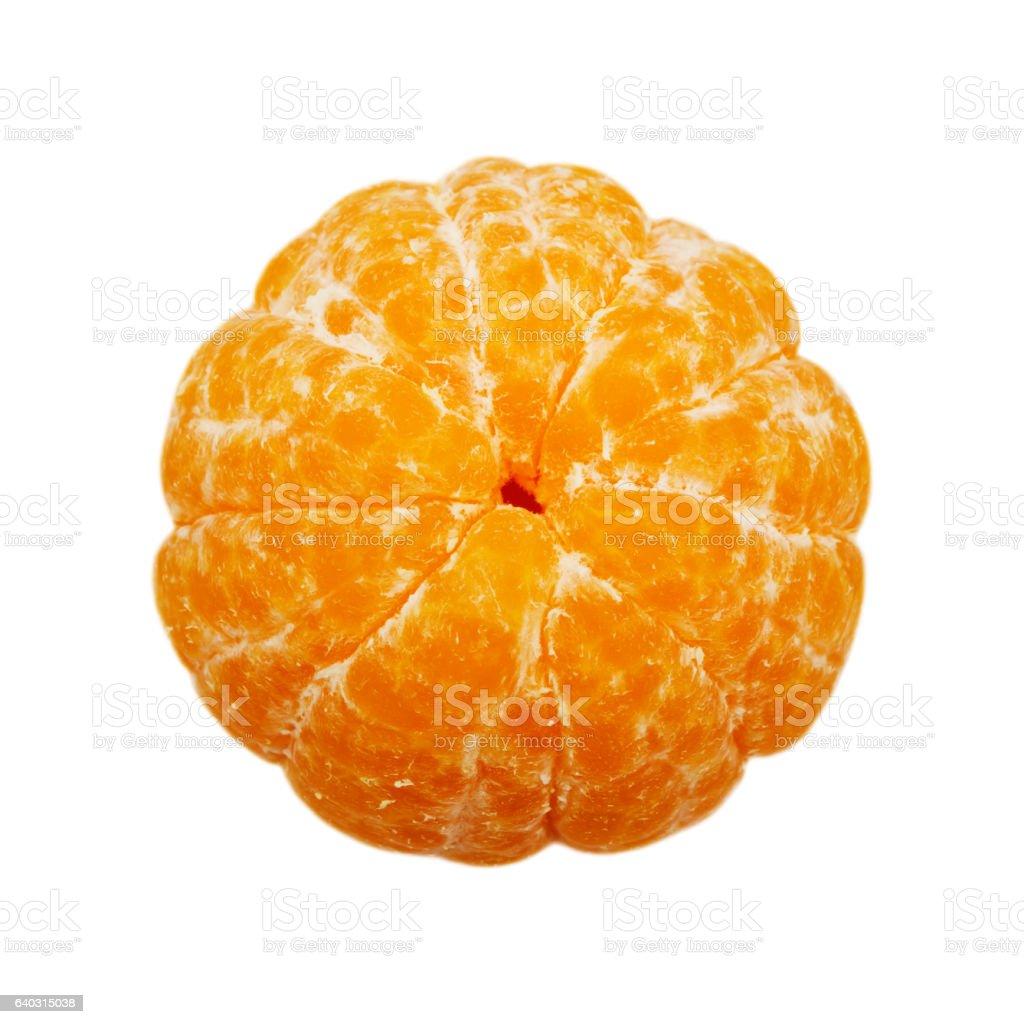 Peeled mandarin isolated on the white background stock photo