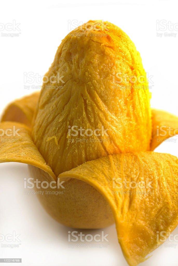 peeled mango royalty-free stock photo
