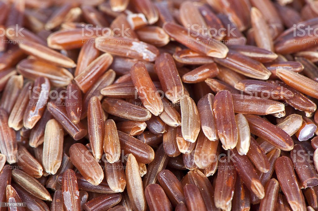Peeled red rice royalty-free stock photo