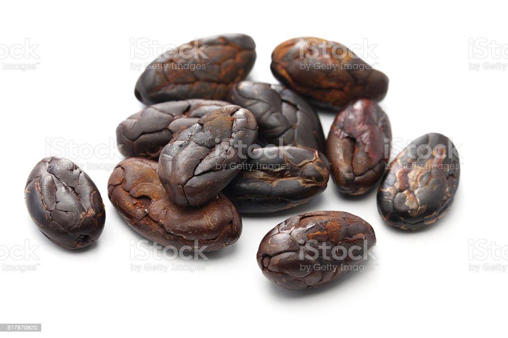 peeled roasted cacao cocoa beans stock photo