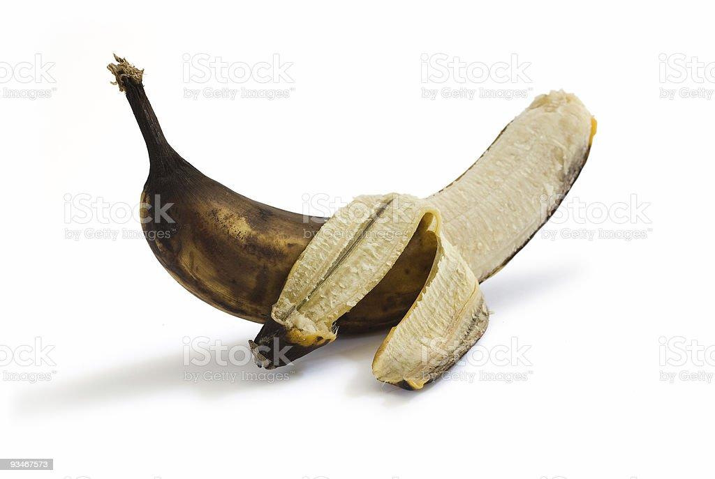 Peeled rotten banana royalty-free stock photo
