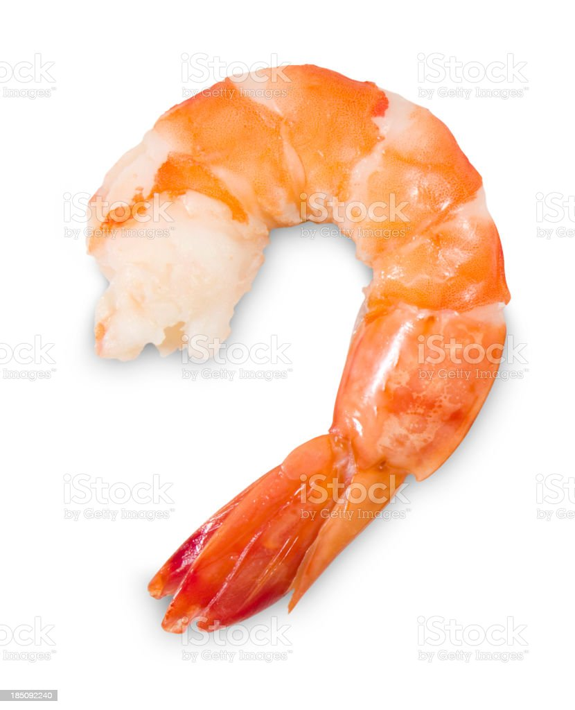 Peeled Shrimp Isolated royalty-free stock photo