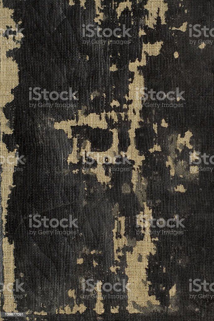 Peeling bible cover. stock photo