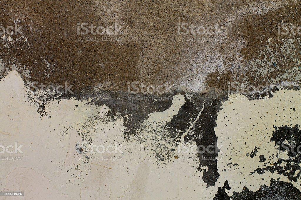 peeling of cement stock photo