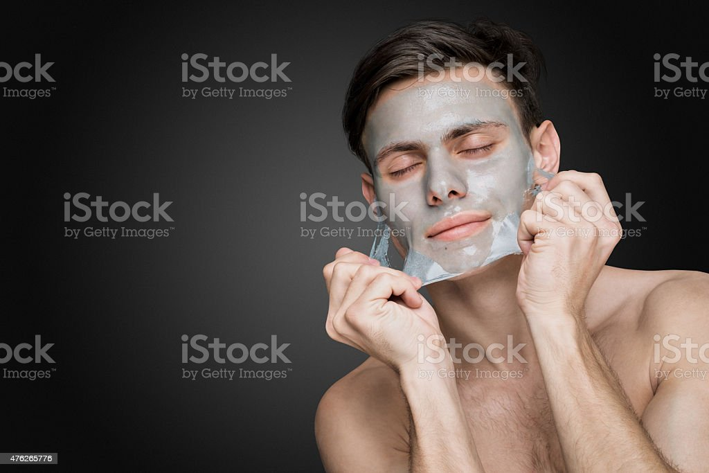 Peeling off. stock photo