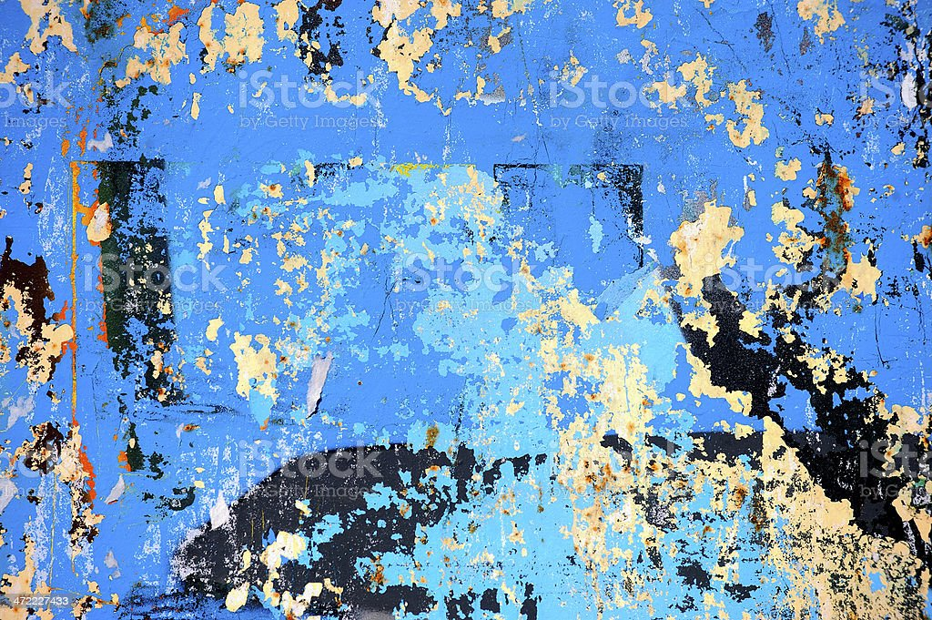 peeling paint abstract background royalty-free stock photo