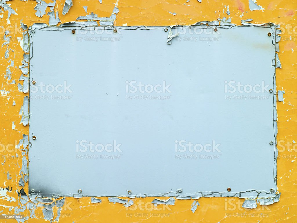 Peeling paint grunge frame royalty-free stock photo