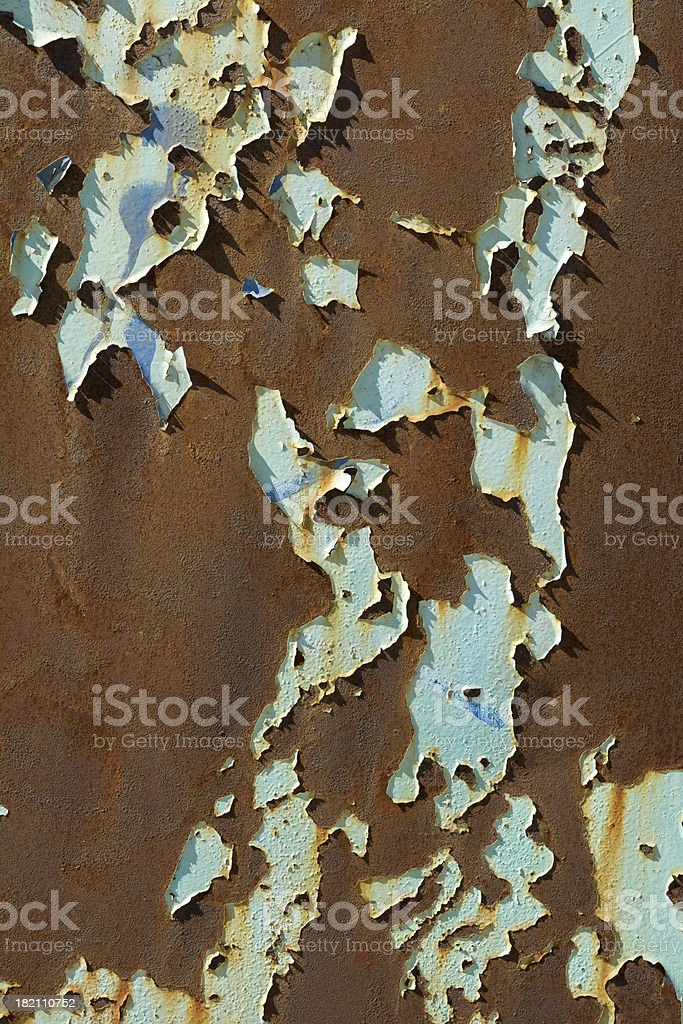 Peeling Paint on Abandoned Factory Exterior royalty-free stock photo
