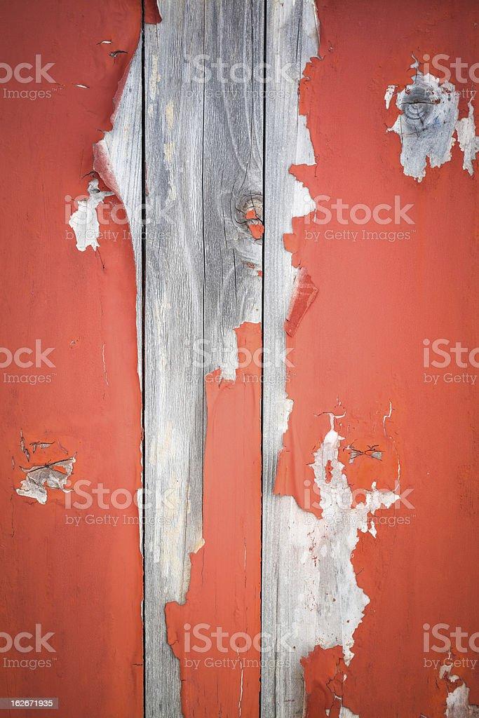 peeling paint on aging wooden door royalty-free stock photo
