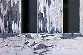 Peeling Paint on Fence