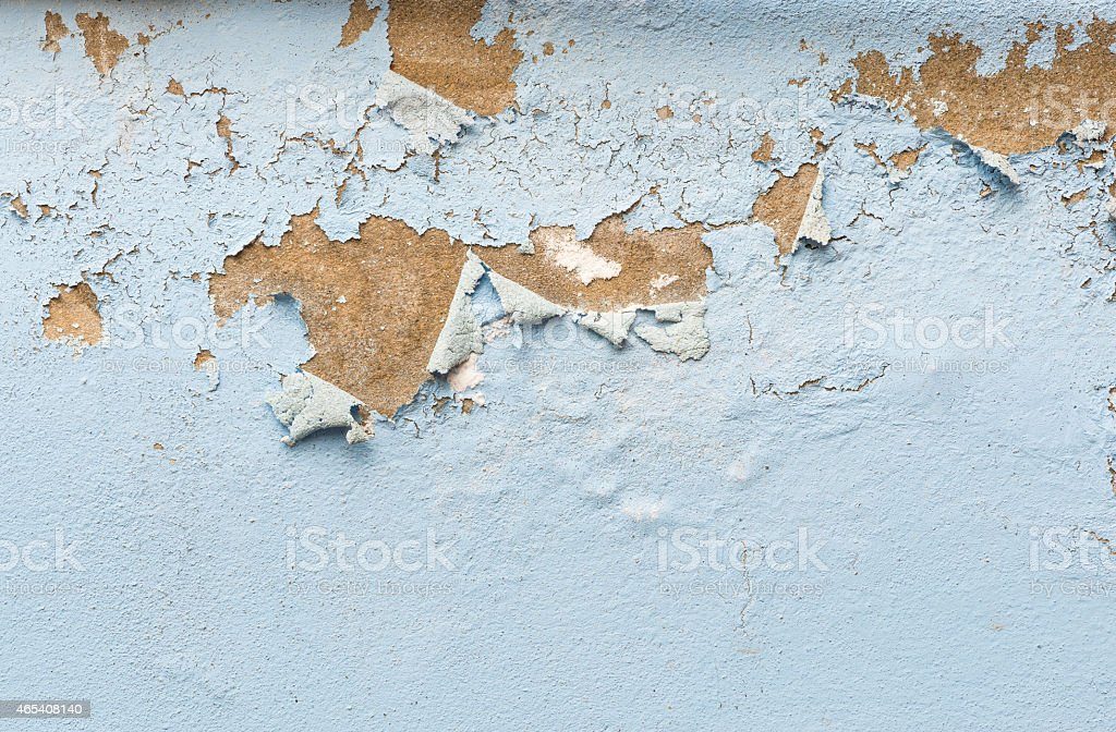 peeling paint on plastering wall stock photo