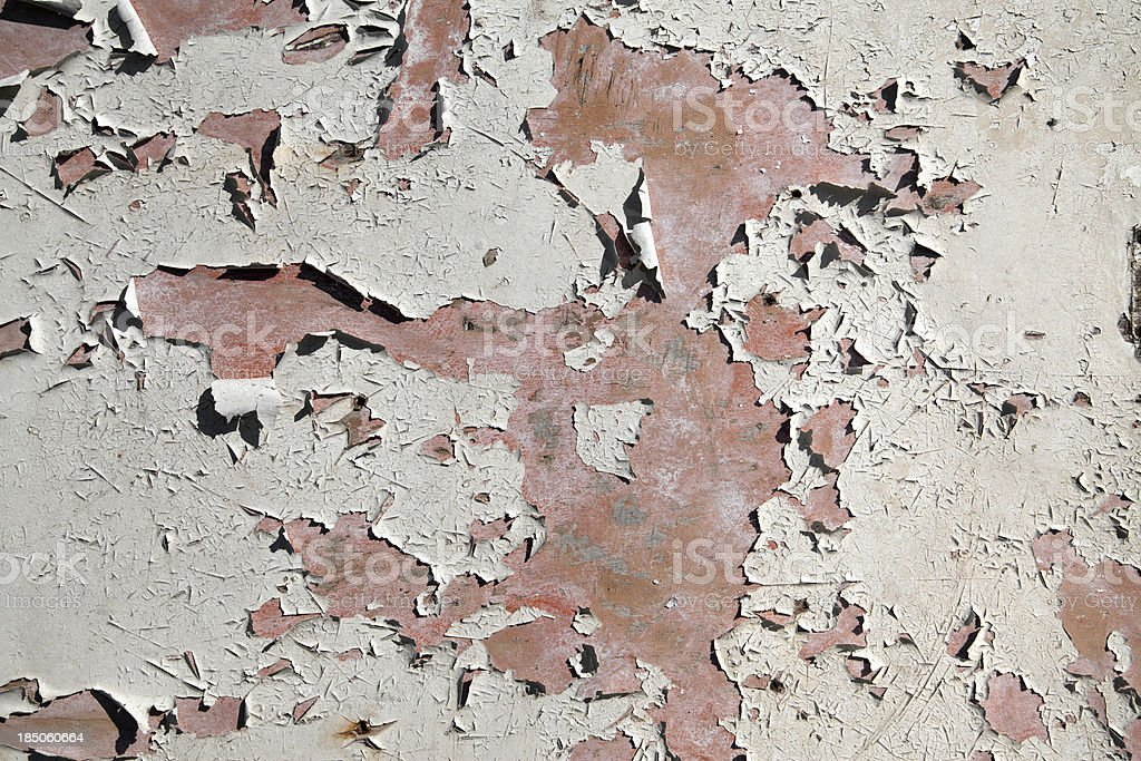 Peeling paint stock photo
