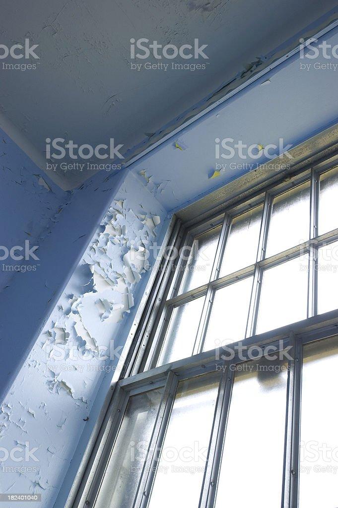 Peeling paint window stock photo