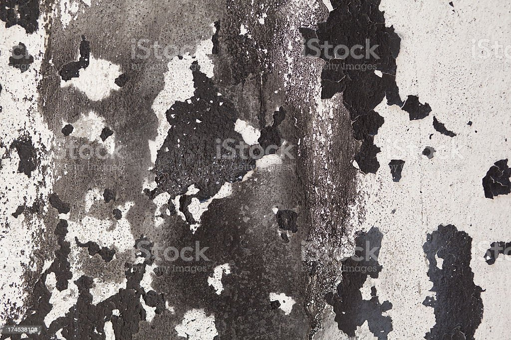 Peeling Painted Wall royalty-free stock photo