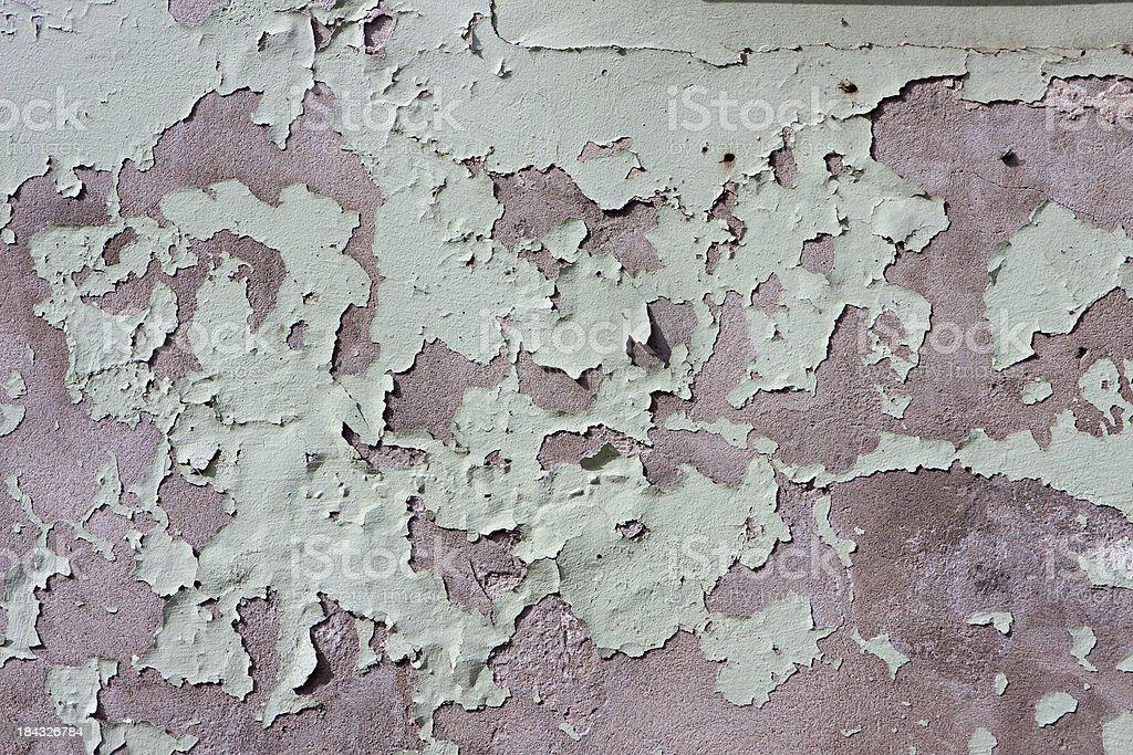 peeling painted wall stock photo