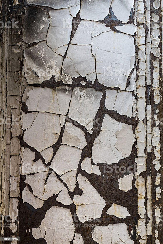 Peeling Painted Wall royalty-free stock photo