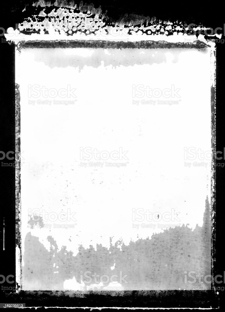 Peeling photo Transfer Border or Frame royalty-free stock photo