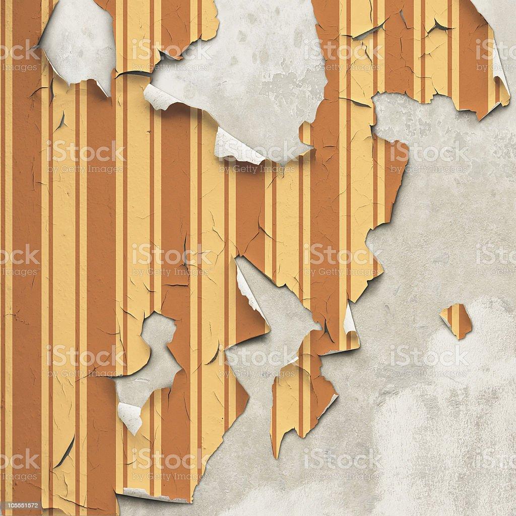 Peeling Wallpaper royalty-free stock photo