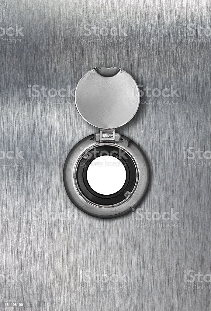 peep hole closeup stock photo