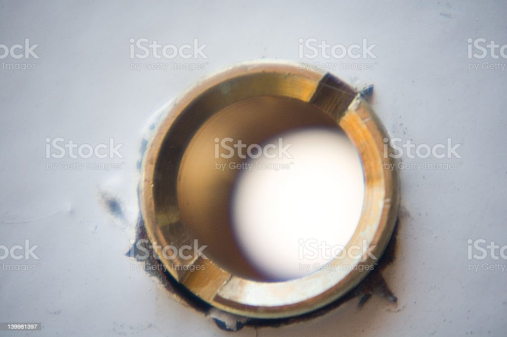 Peep Hole royalty-free stock photo