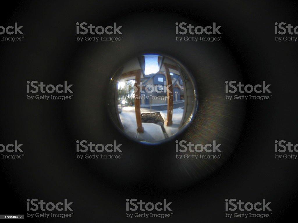 Peep Hole stock photo