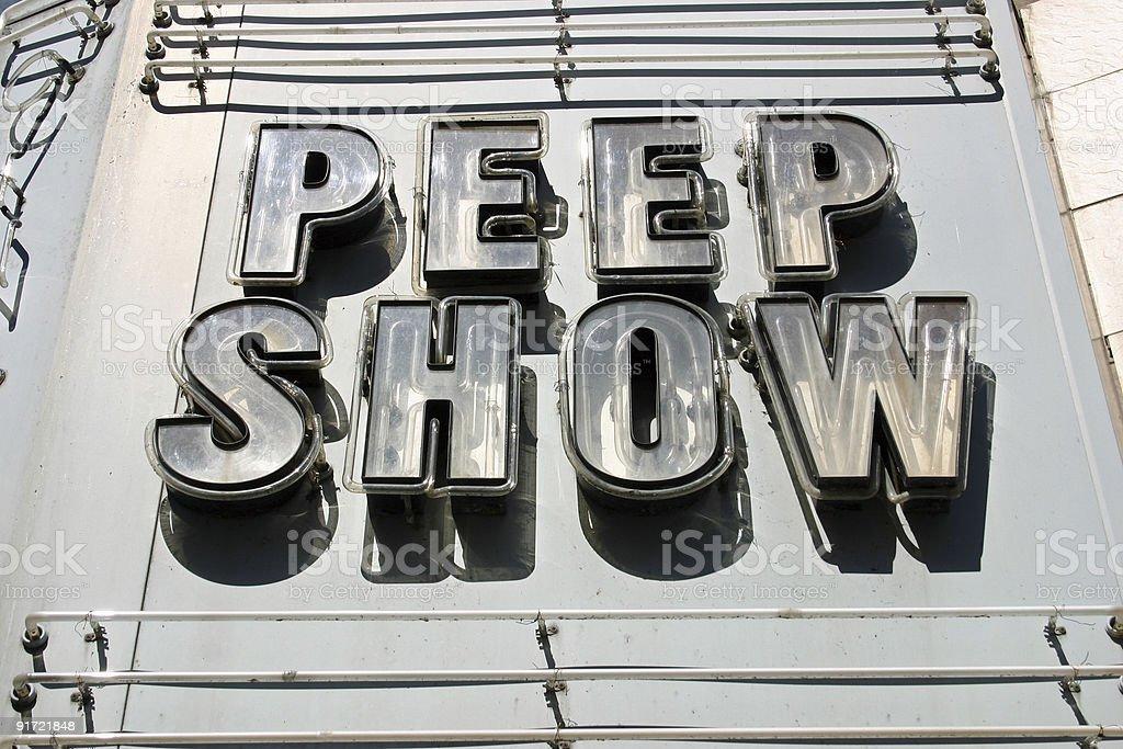 Peep Show Sign royalty-free stock photo