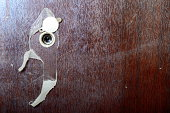 Peephole on new wooden door