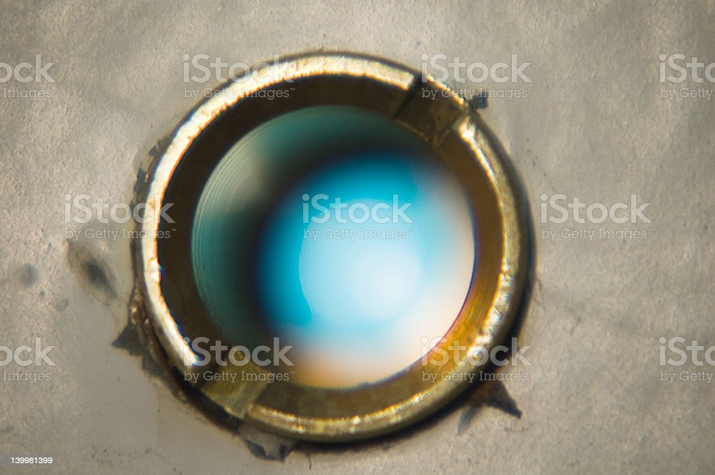 Peephole royalty-free stock photo