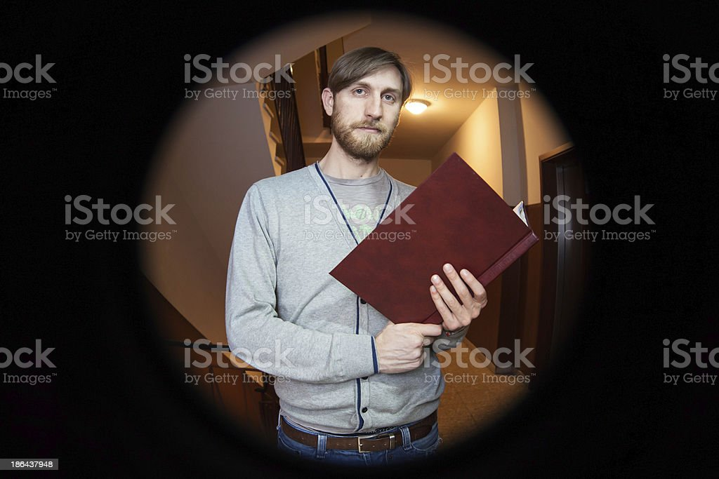 peephole stock photo