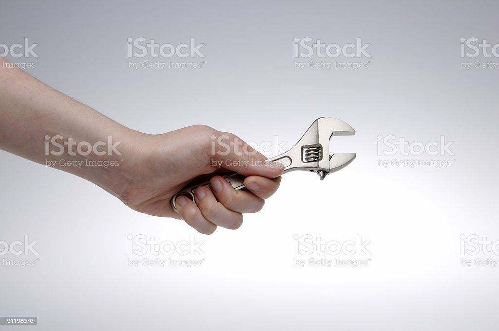 Spanner royalty-free stock photo