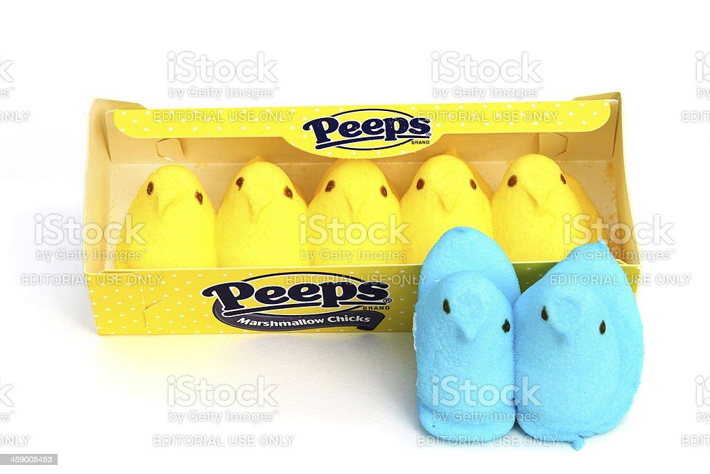 Peeps Marshmallow Chicks stock photo