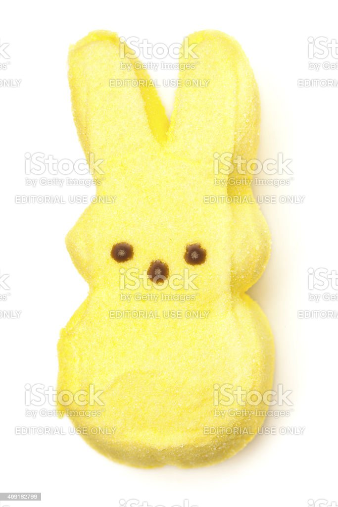 Peeps Yellow Marshmallow Bunny stock photo