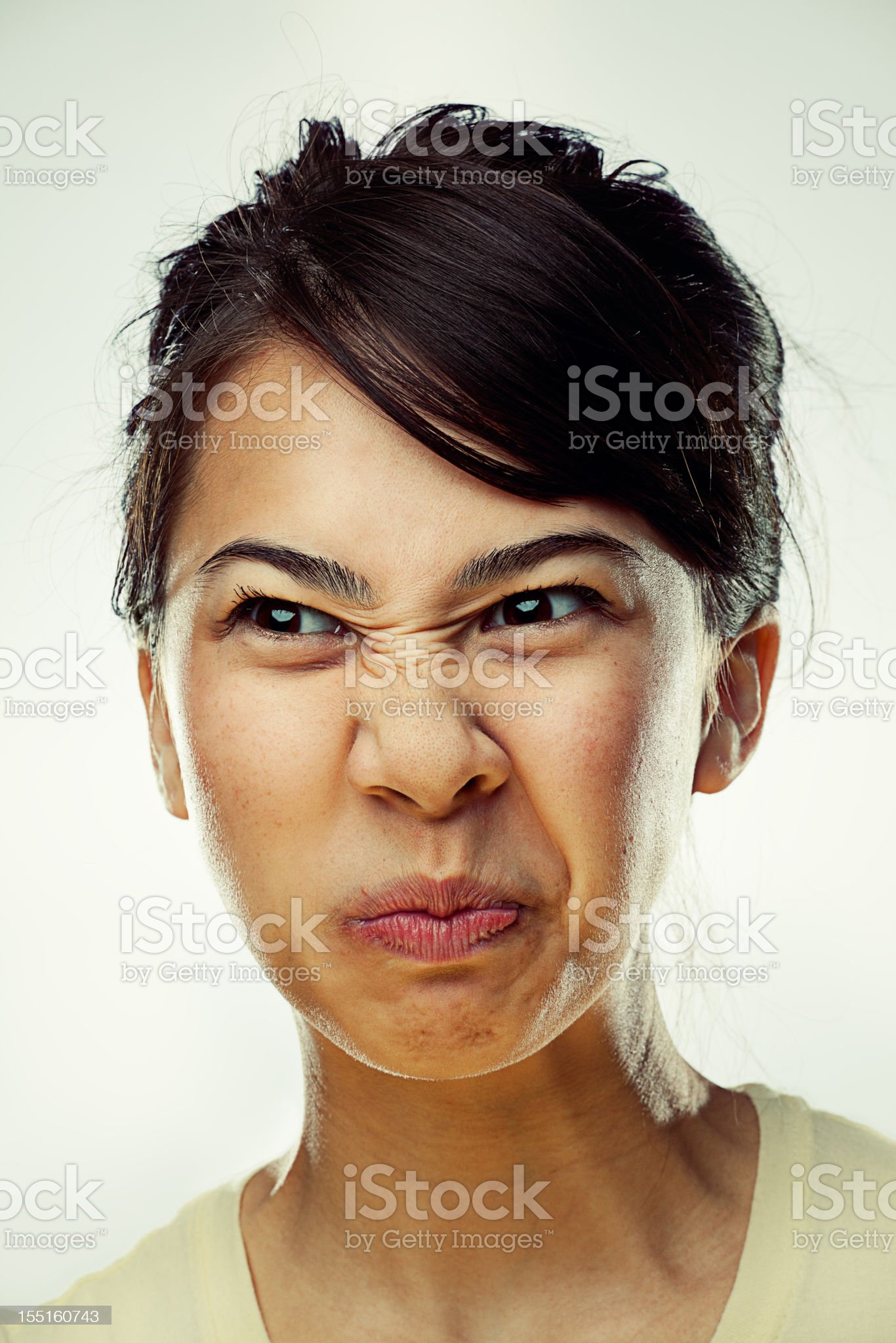 peeved royalty-free stock photo