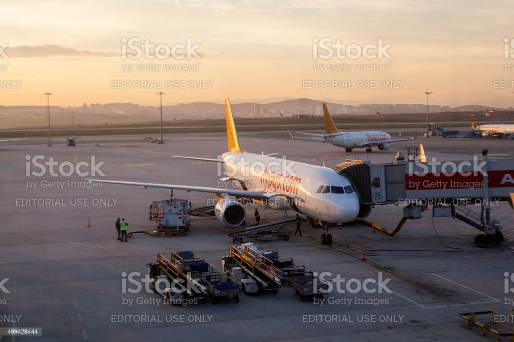 Pegasus airline Boeing 737-800 stock photo