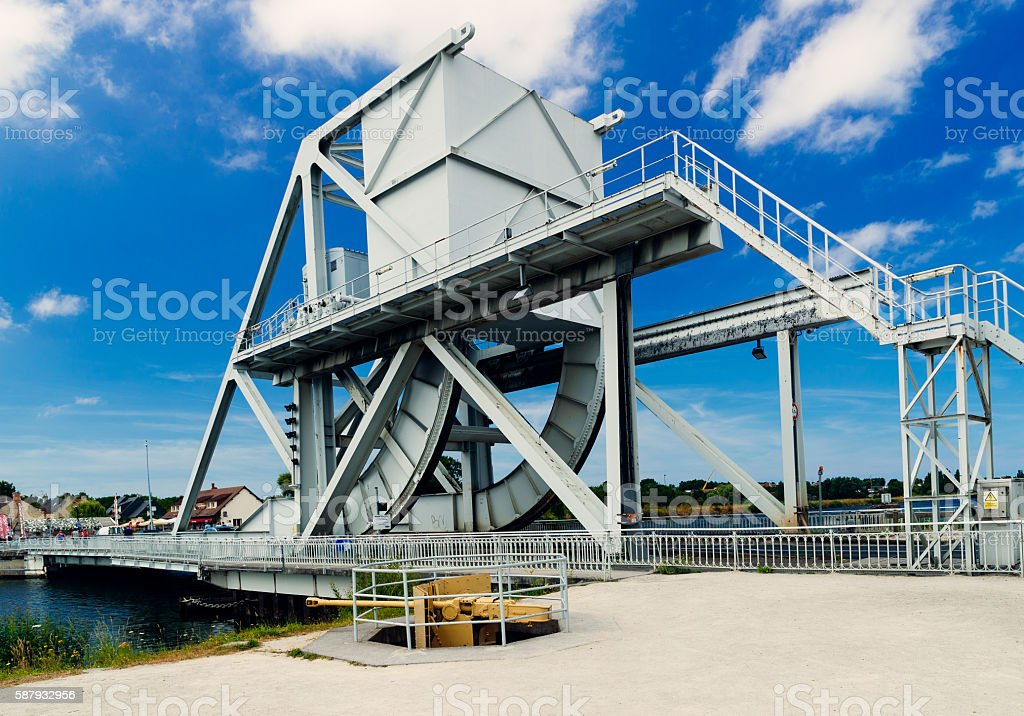 Pegasus Bridge, Benouville, Normandy stock photo