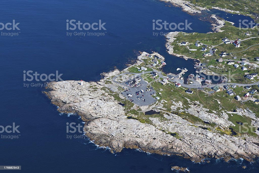 Peggy's Cove Aerial -9127 stock photo
