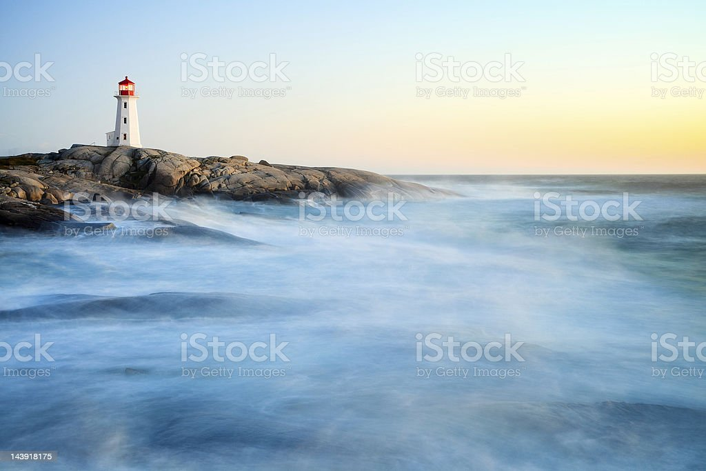 Peggy's Cove after hurricane Irene stock photo