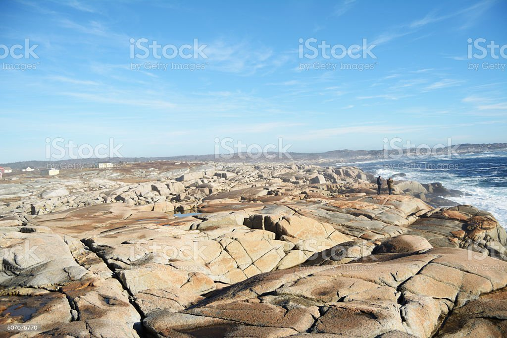Peggy's Cove Christmas day 2015 stock photo