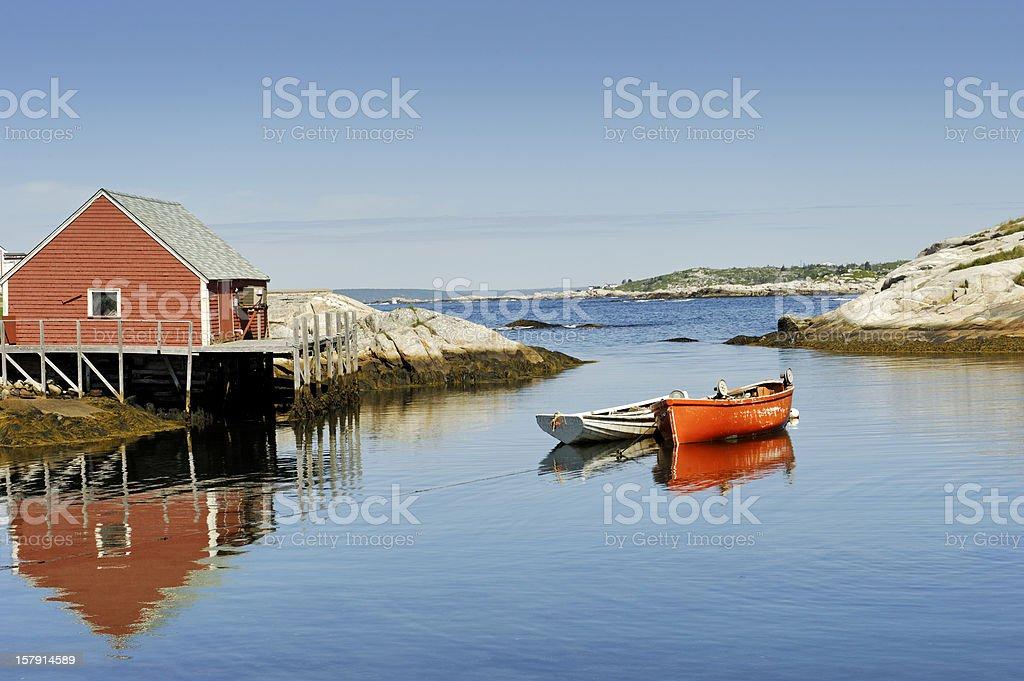 Peggy's Cove harbour near Halifax, Nova Scotia,Canada stock photo